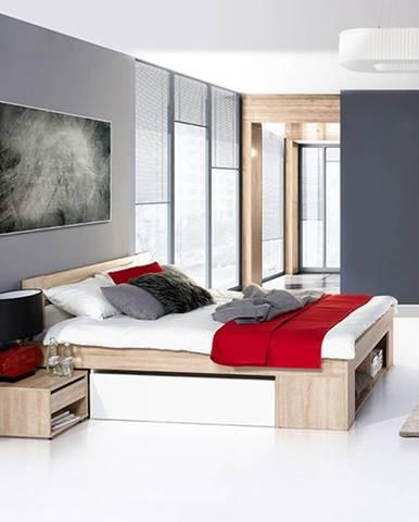 Szynaka Manželská posteľ s nočnými stolíkmi Milo 08