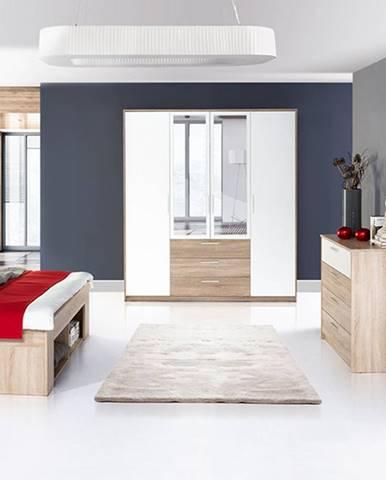 Szynaka Manželská posteľ s nočnými stolíkmi Milo 09