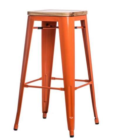 ArtD Barová stolička Paris 75cm Drevená-Jaseň oranžová