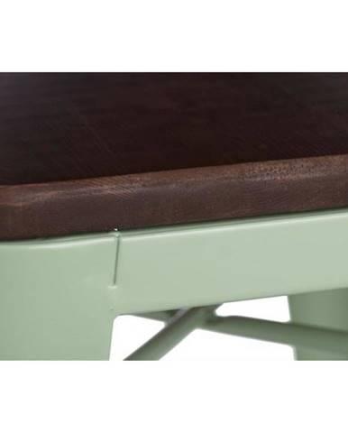 ArtD Barová stolička Paris 75cm Drevená-Sosna orech zelená