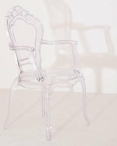 ArtKing Jedálenská stolička KING ARM transparentná
