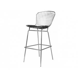 ArtD Barová stolička Harry inšpirovaná Diamond čierna