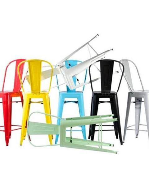 ArtD ArtD Barová stolička Paris Back inšpirovaná Tolix čierna