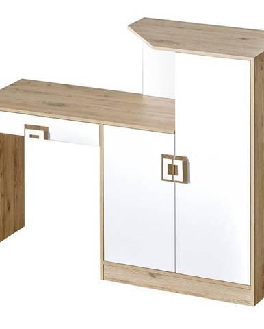 Písací stôl Íróasztal Nico 150 biela/svetly dub nr-11