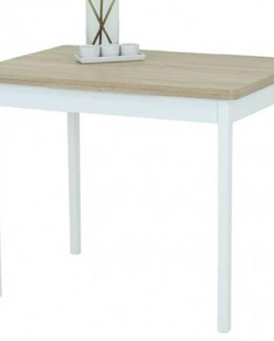 Jedálenský stôl Kiel I 90x65 cm, biely/dub sonoma%
