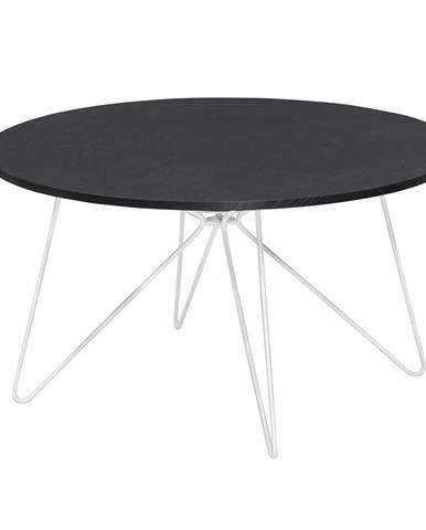 Konferenčný stolík čierny dub/biela MIKKEL NEW