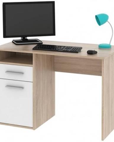 Písací stôl Miro, dub Sonoma/biela%