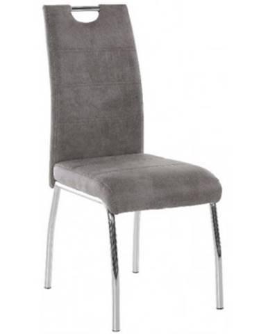 Jedálenská stolička Susi, šedá vintage látka%