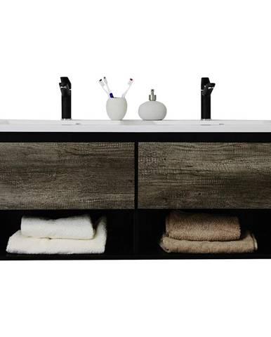 Kúpeľňová Skrinka Soho Š: 120 Cm Tmavosivá