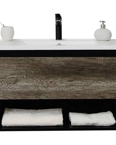 Kúpeľňová Skrinka Soho Š: 80 Cm Tmavosivá