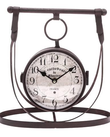 Obojstranné stolné kovové hodiny, 30 x 29 cm