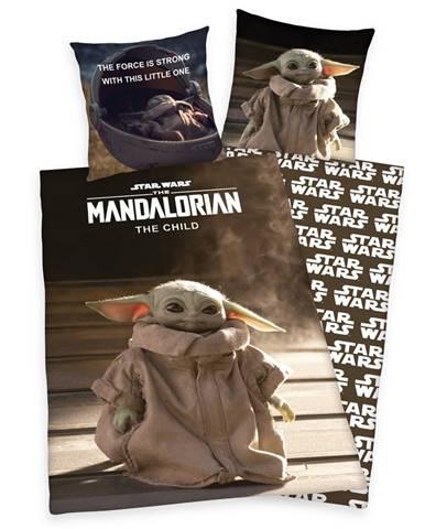 Herding Bavlnené obliečky Star Wars Mandalorian The Child, 140 x 200 cm, 70 x 90 cm