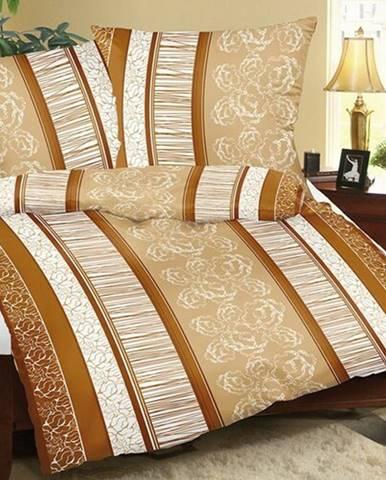 Bellatex Bavlnené obliečky Pruh béžovo-sivá