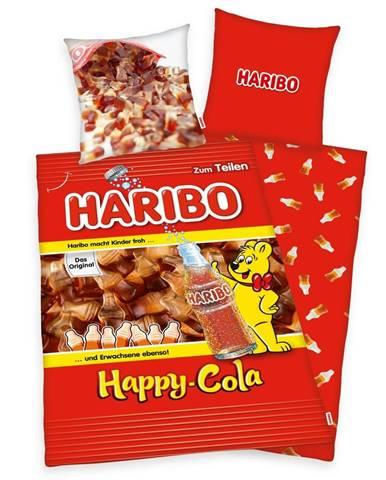 Herding Bavlnené obliečky Haribo Happy Cola, 140 x 200 cm, 70 x 90 cm