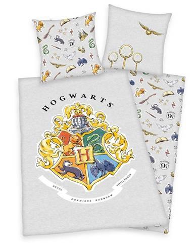 Herding Bavlnené obliečky Harry Potter sivá, 140 x 200 cm, 70 x 90 cm