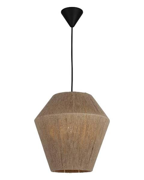 Homemania Decor Čierno-béžové závesné svietidlo Homemania Decor Fero, výška 30 cm