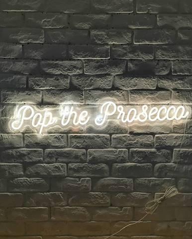Biela nástenná svietiaca dekorácia Candy Shock Prosecco
