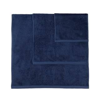 Súprava 3 tmavomodrých uterákov Artex Alfa