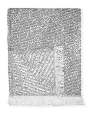 Sivý pléd s podielom bavlny Euromant Dotty Diamond, 140 x 180 cm