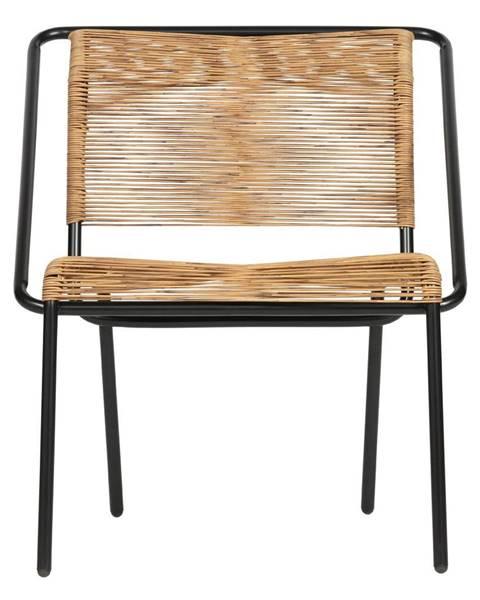 BePureHome Čierno-hnedá stolička vhodná aj do exteriéru BePureHome Wisp