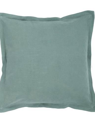 Zelený vankúš s prímesou ľanu Tiseco Home Studio, 45 x 45 cm