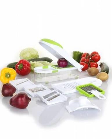 Krájač univerzálny na zeleninu, 27x7 cm, mix farieb, 6x nadstavec
