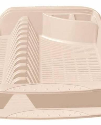 Odkvapávač na riad, plastový, 39,5x29,5x8 cm, krémový