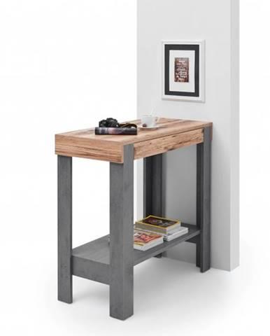 Barový stôl VELVET sivá/old style