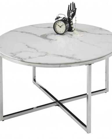 Konferenčný stolík LEMAVI biela/chróm