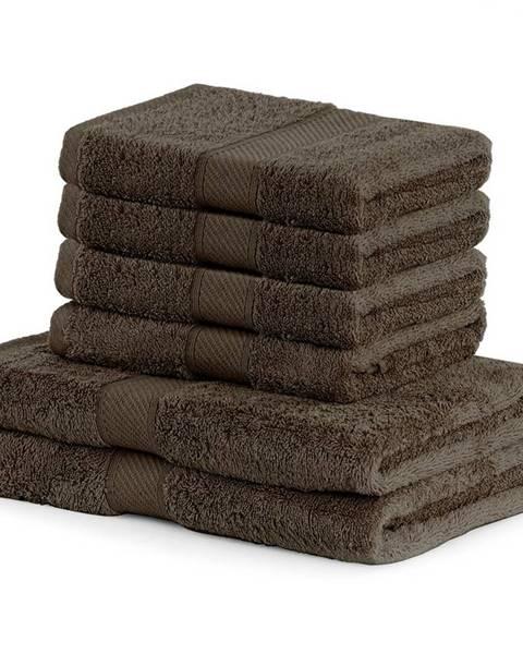 DecoKing DecoKing Sada uterákov a osušiek Bamby hnedá, 4 ks 50 x 100 cm, 2 ks 70 x 140 cm