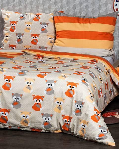 4Home 4Home Bavlnené obliečky Little Fox, 160 x 200 cm, 70 x 80 cm