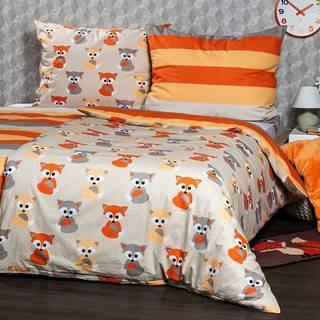 4Home Bavlnené obliečky Little Fox, 160 x 200 cm, 70 x 80 cm