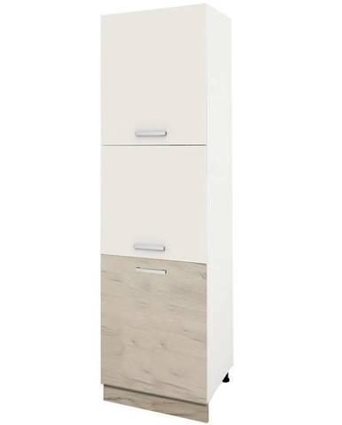 Skrinka do kuchyne Charlotte 60 Lower Base Cabinet B White/Oak White Craft