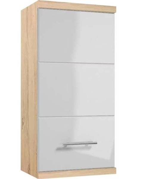 MERKURY MARKET Závesná kúpeľňová skrinka Bari A35 1D0S dub sonoma