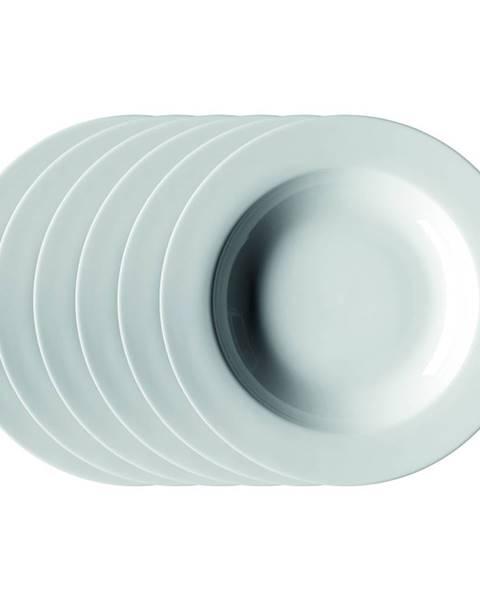 Mäser Mäser Sada hlbokých tanierov Clasico 21,5 cm, 6 ks, biela