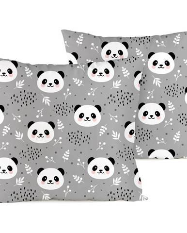4home Obliečka na vankúšik Nordic Panda krep, 40 x 40 cm