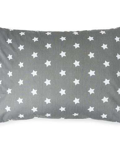 4Home Obliečka na vankúšik Stars sivá, 50 x 70 cm