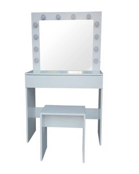 Kvalitex Kozmetický stolík so zrkadlom Kamila, 140 x 40 x 80 cm