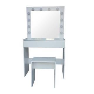 Kozmetický stolík so zrkadlom Kamila, 140 x 40 x 80 cm