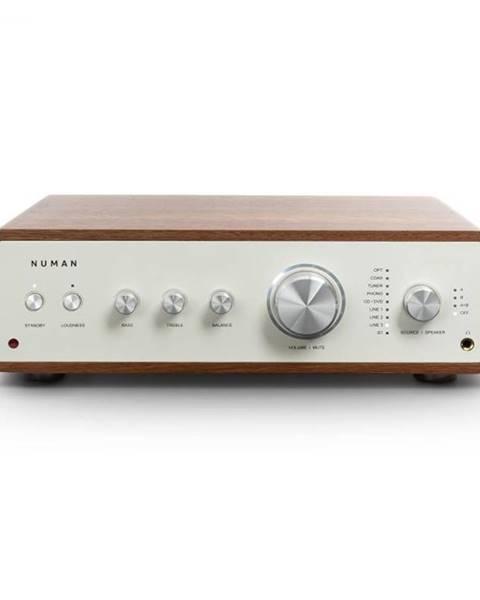 Numan Numan Drive Digital, stereo zosilňovač, 2x170W/4x85W RMS, AUX/Phono/koaxial, orech