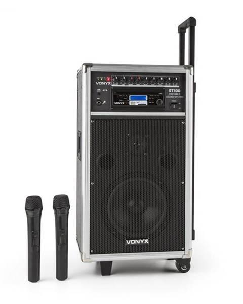 Vonyx Vonyx ST-100 MK2, prenosný PA audio systém, bluetooth, CD, USB, SD, MP3, akumulátor, UKV