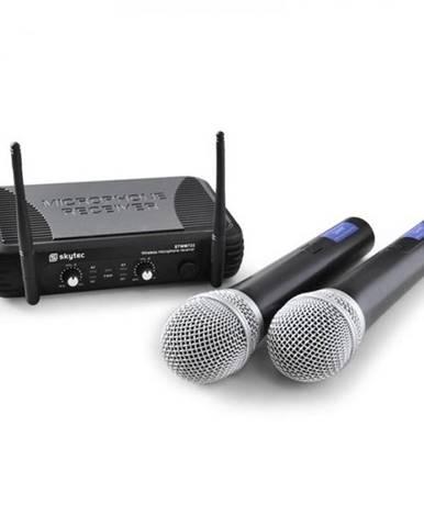 Bezdrôtový mikrofónový set Skytec STWM722 s2 bezdrôtovými U