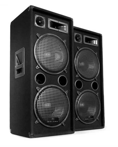 Malone Malone 2 x PW-2222 DJ 3-pásmový reproduktor 2 x 30 cm 1000 W
