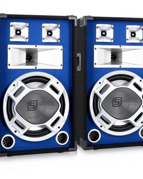 Skytec Skytec pár 30 cm PA reproduktorov, svetelný efekt modrý, 2 x 600 W reproduktory