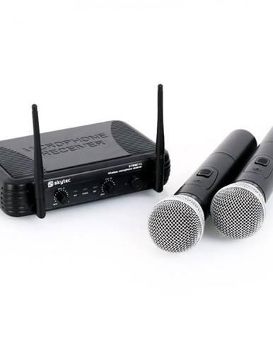 Bezdrôtový mikrofónový set Skytec STWM712, 2 kanály
