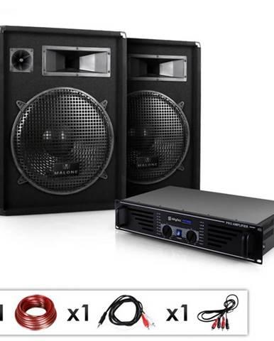 "Electronic-Star DJ PA kompletný set ""Miami Quasar"", zosilňovač, 2 x repr."
