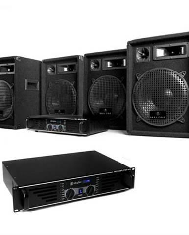 "Electronic-Star DJ PA sada ""Marrakesh Lounge Pro"", 2 x zosilňovač, 4 x reproduktor"
