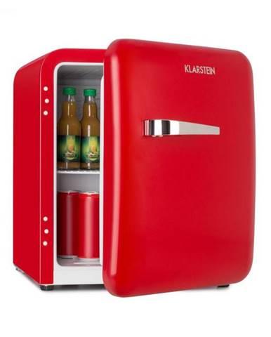Klarstein Audrey Mini, retro chladnička, 48 l, 2 úrovne, A+, červená