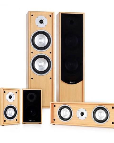 Auna Auna 5.0 zvukový systém k domácemu kinu Linie-300-BH, buk, 2
