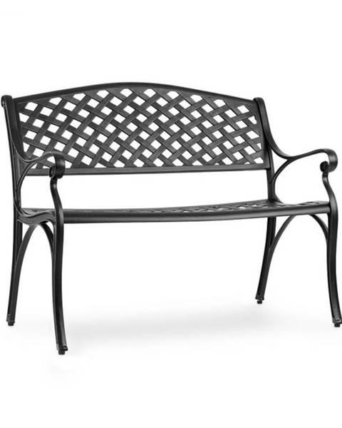 Blumfeldt Blumfeldt Pozzilli BL, záhradná lavička, liaty hliník,odolná voči počasiu, čierna